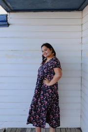 Avery Dress - Navy Floral