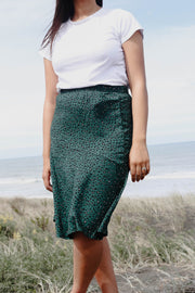Lily Skirt - Small Green Animal