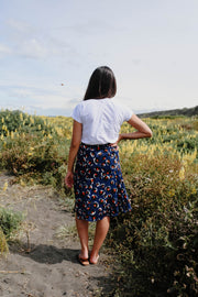 Lily Skirt - Navy Animal