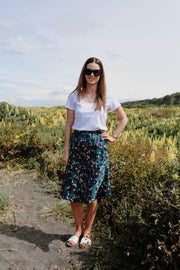 Lily Skirt - Green Animal