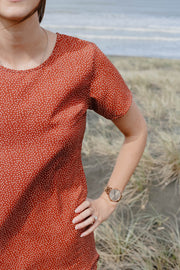 Matai Dress - Terracotta Spot