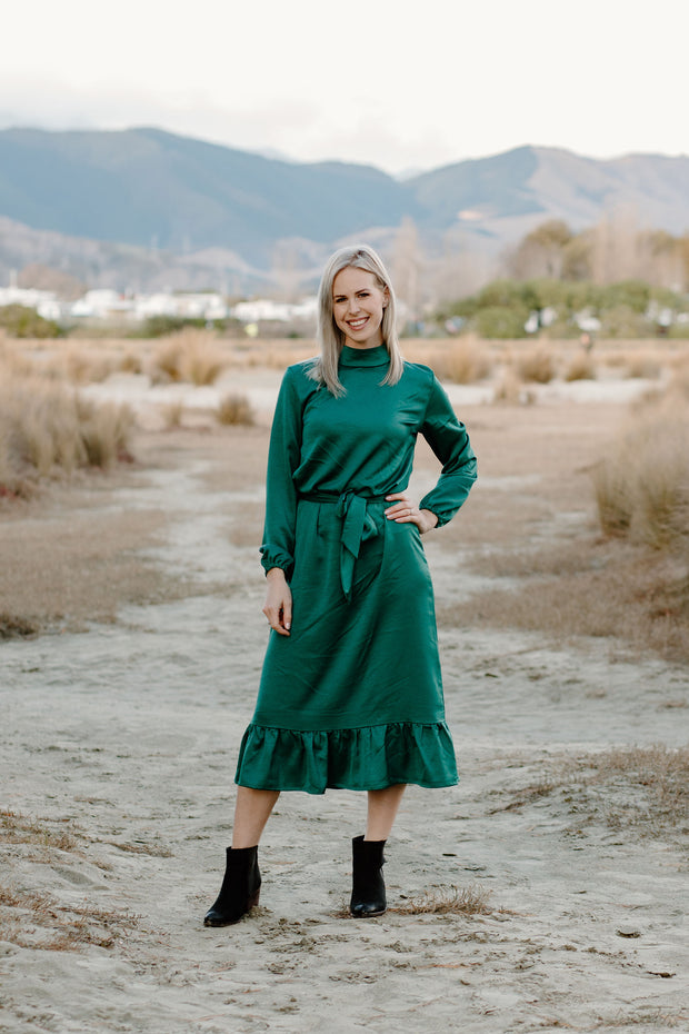 Hayley Dress - Emerald