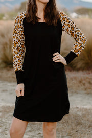 Holster Dress - Black/Animal