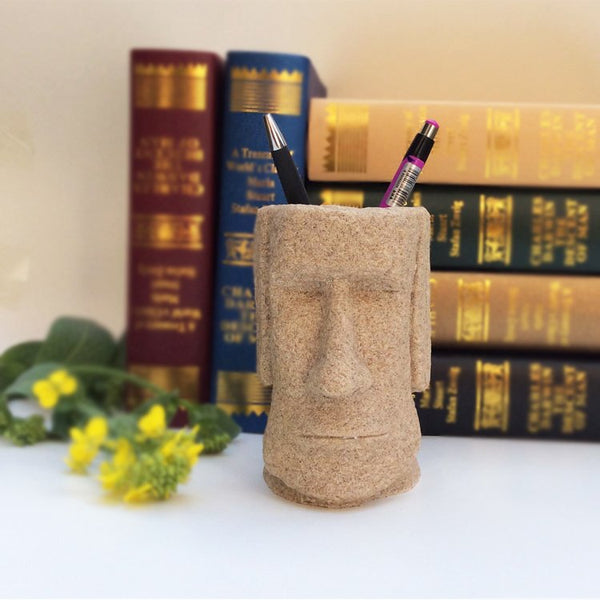 Easter Island Moai Pen Container