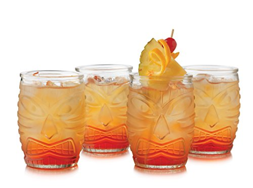Libbey 4 Piece Modern Bar-Tiki Double Old Fashioned Glass Set - TikiFreek
