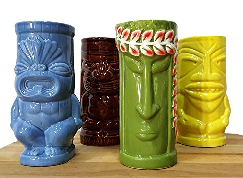 Tiki Mugs Set of 4