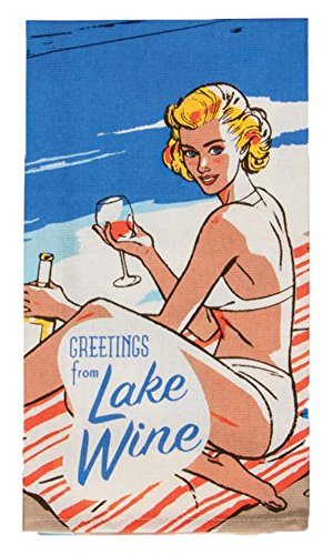 Blue Q Greetings from Lake Wine - Printed Dish Towel