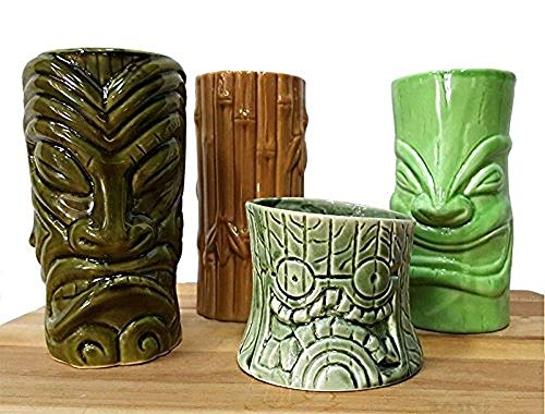 Tiki Mugs Cocktail Set of 4 - TikiFreek