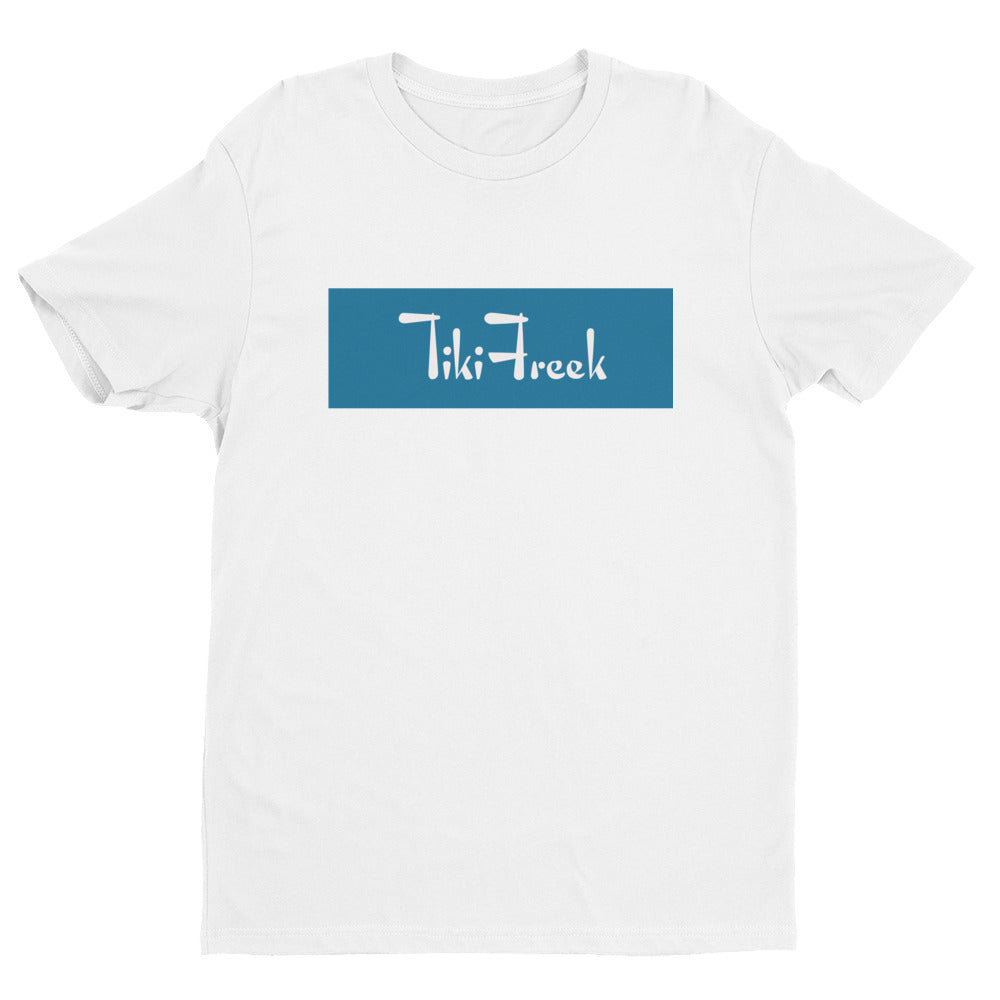 TikiFreek Box Logo Short Sleeve T-shirt Blue - TikiFreek