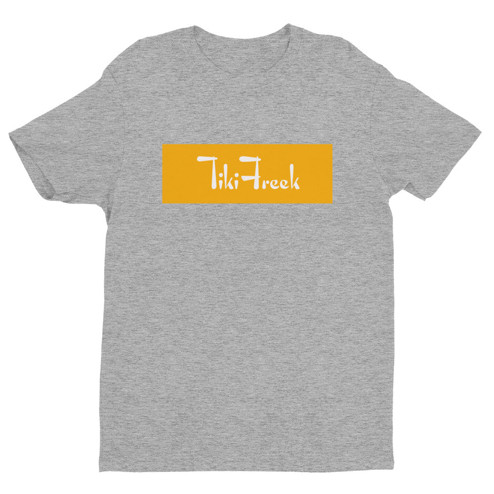 TikiFreek Box Logo Short Sleeve T-shirt Yellow - TikiFreek