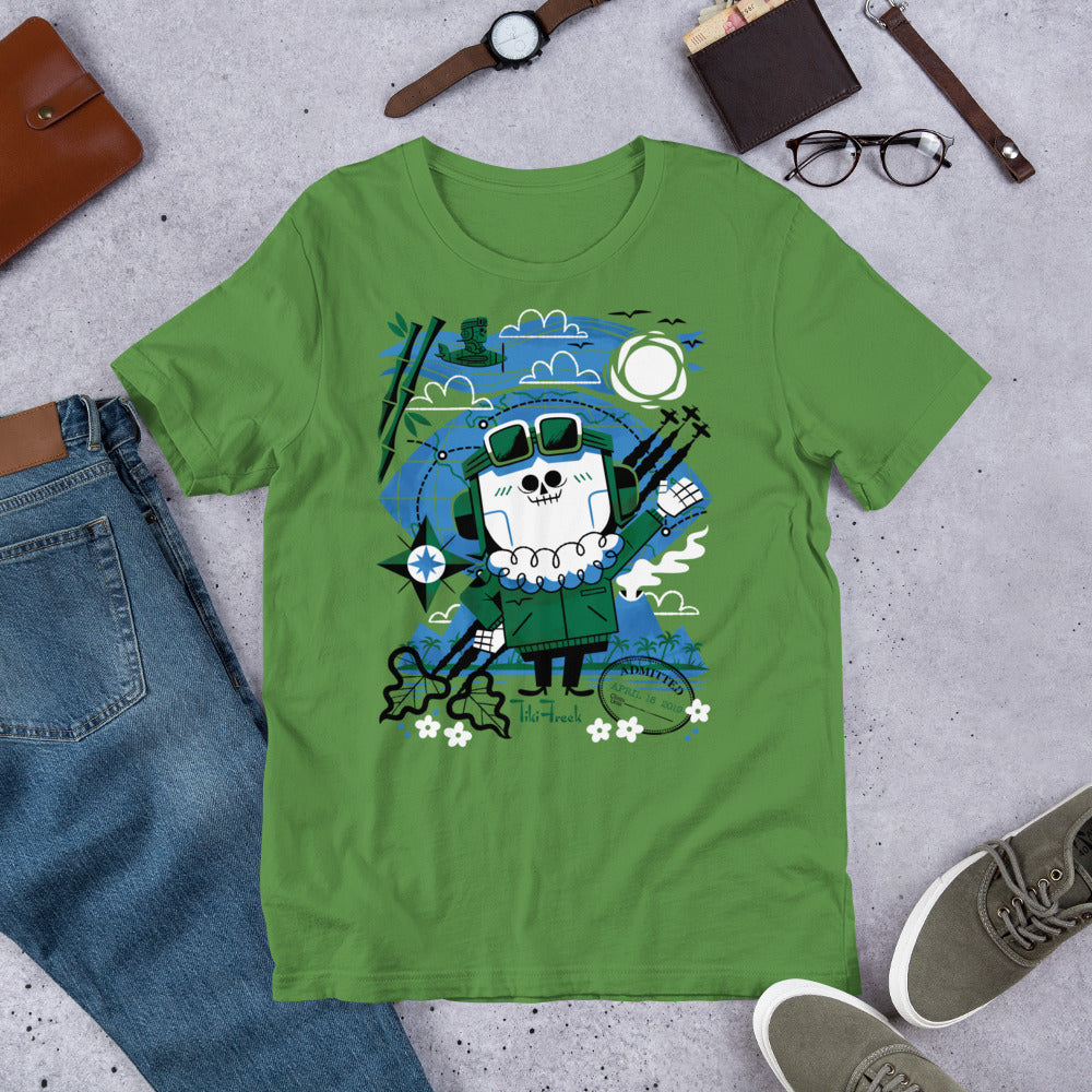"Andrew Kolb ""Test Pilot"" Short-Sleeve Unisex T-Shirt - Green - TikiFreek"