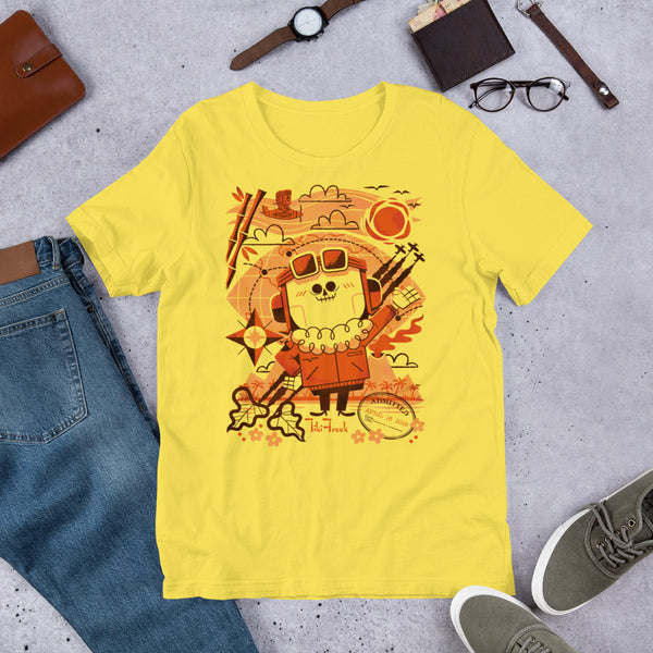 "Andrew Kolb ""Test Pilot"" Short-Sleeve Unisex T-Shirt - Yellow - TikiFreek"