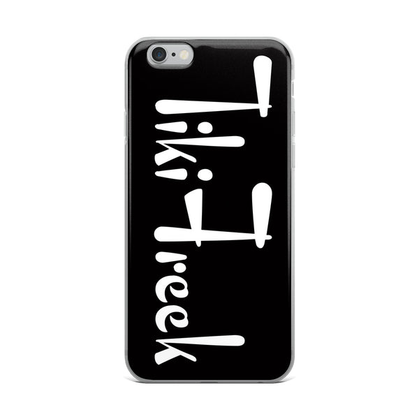 Black and White Logo iPhone Case - TikiFreek