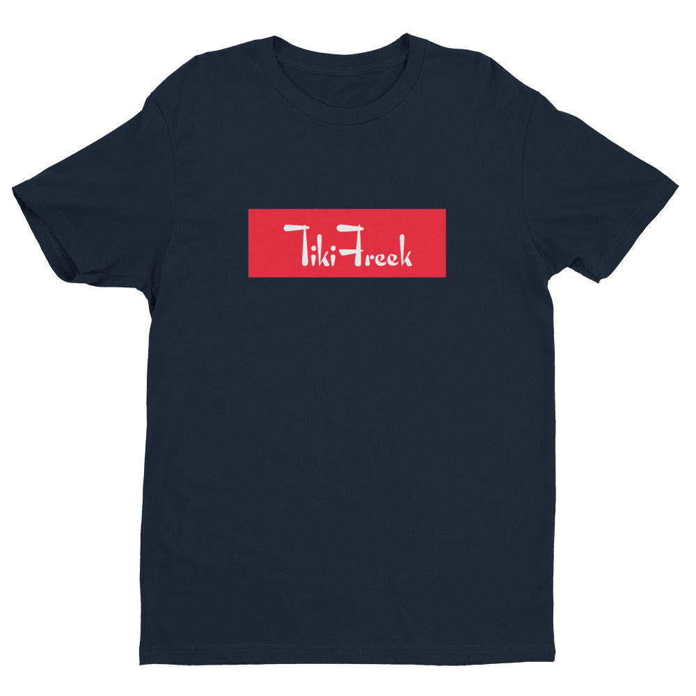 TikiFreek Box Logo Short Sleeve T-shirt Red - TikiFreek