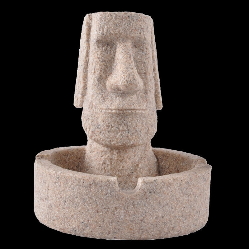 Sandstone Moai Ashtray