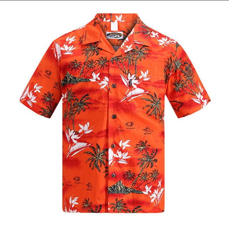 Brand New Hawaiian Short Sleeved Palm Tree Shirt - TikiFreek