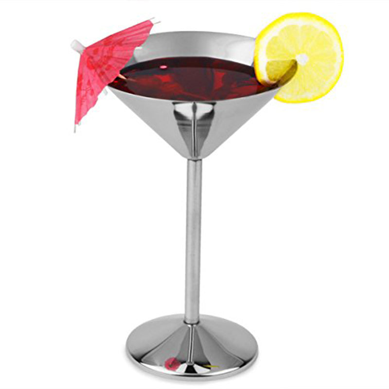 Stainless Steel Martini Cocktail Glasses - TikiFreek