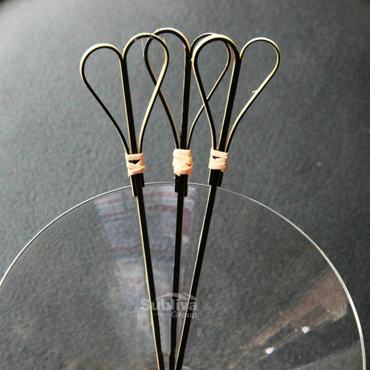 50pcs Bamboo Scissor Shape Cocktail Sticks - 12cm - TikiFreek