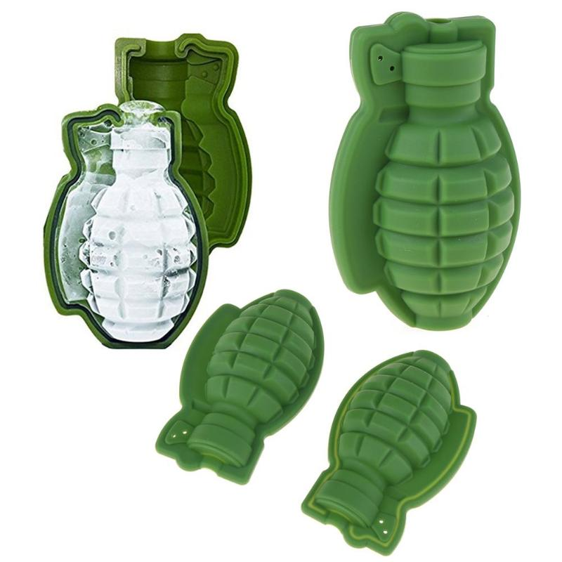 Creative 3D Grenade Shape Ice Cube Mold Tray - TikiFreek