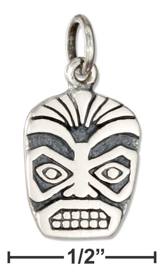 Sterling Silver Tiki Face Charm