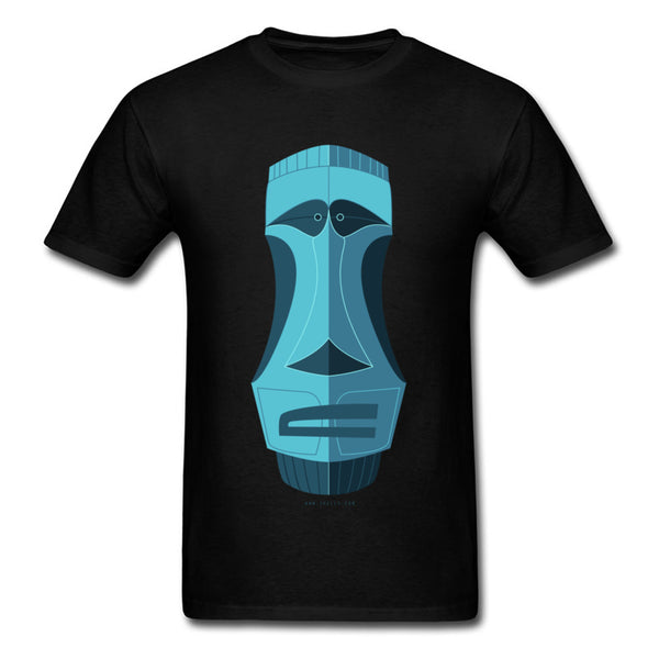 Blue Tiki Casual T Shirt