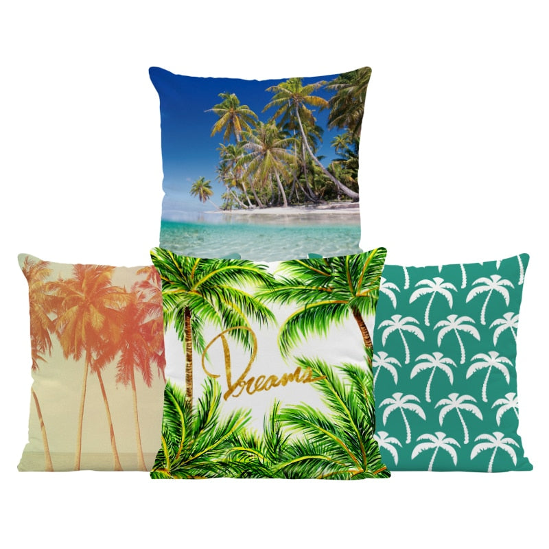 Plant Palm Tree Sunset  Mid Century Pillow Covers - TikiFreek
