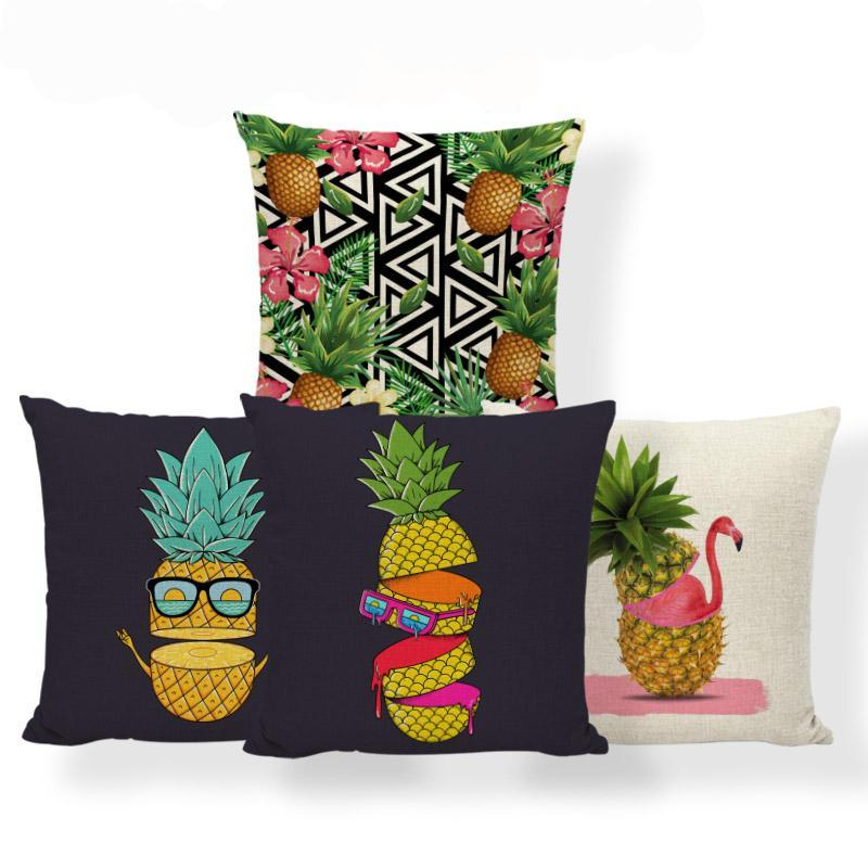 Pink Flamingos Pineapple Pillowcase Mid Century - TikiFreek