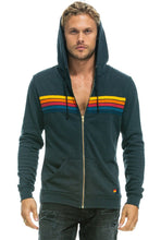 Load image into Gallery viewer, 5 Stripe Zip Hoodie-Unisex