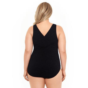 Krinkle Chlorine Resistant Cross Back One Piece Swimsuit (D-Cup)