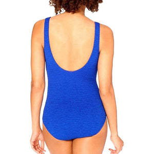 Krinkle Chlorine Resistant Mock Surplice One Piece Swimsuit