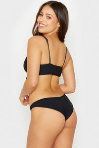 Greer Ribbed Bottom Black