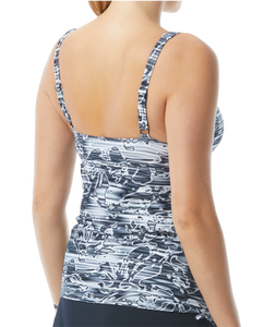 Lucid Square Neck Tankini W/Skirt