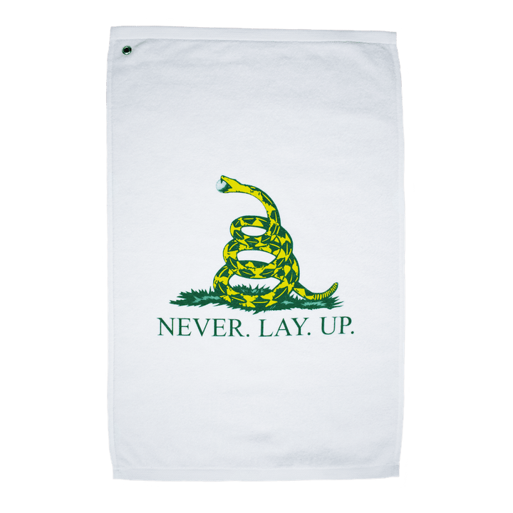 Never Lay Up Golf Towel