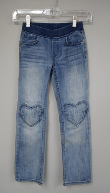 Children's Elastic Waist Jeans w Heart Knees