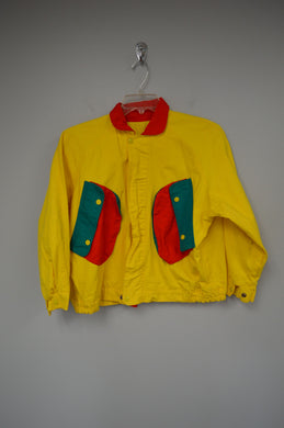 Vintage Color Block Jacket w Pockets
