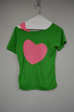 Off The Shoulder Heart Tee