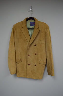 Double Breasted Suede Coat
