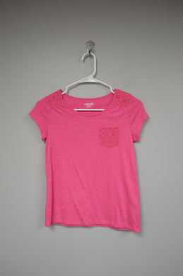 Children's Eyelet Tee w Pocket