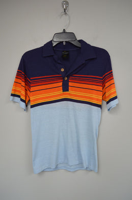 80's Striped Polo Tee