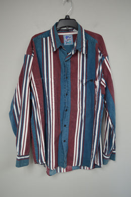 90's Striped Button Up
