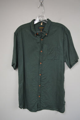 Short Sleeve Button Up w Contrast Buttons