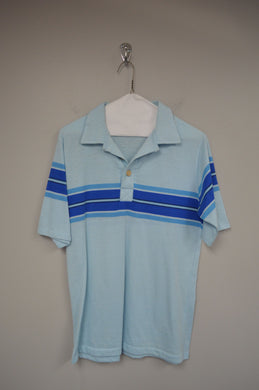 80's Short Sleeve Striped Polo
