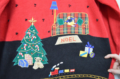 Holiday Christmas Sweater w Noel