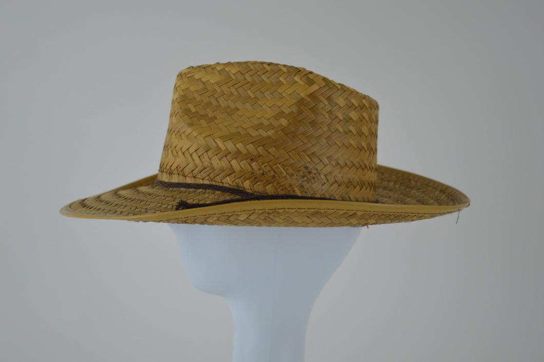Straw Cowboy Hat with Braided Cord