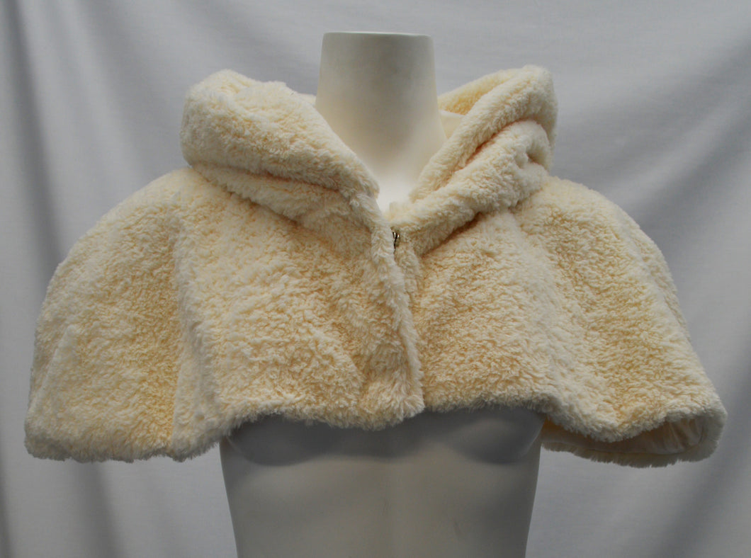 Faux Fur Hooded Capelet