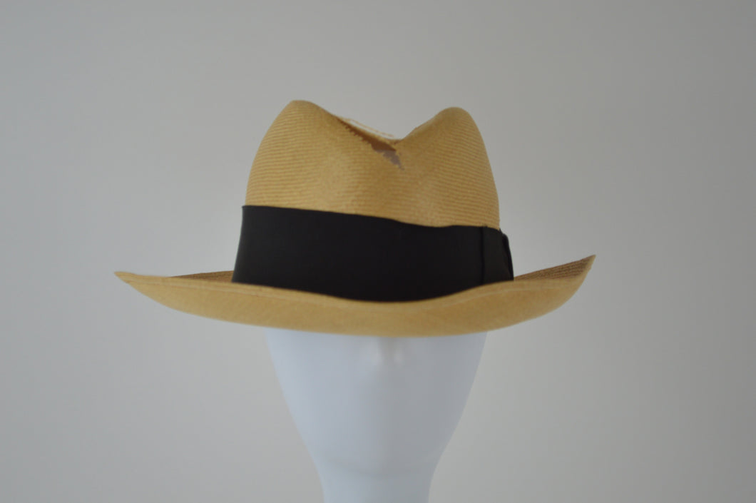 Fedora with Hole and Wide Ribbon