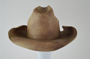 Straw Cowboy Hat with Deep Bucket