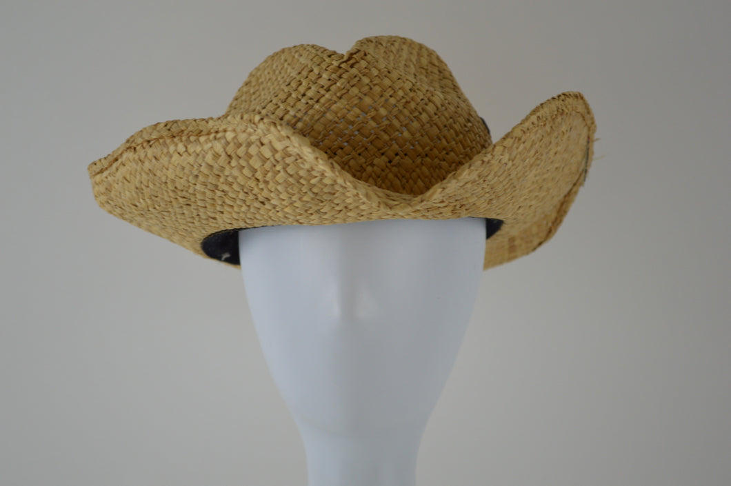 Straw Hat with Full Wire Brim