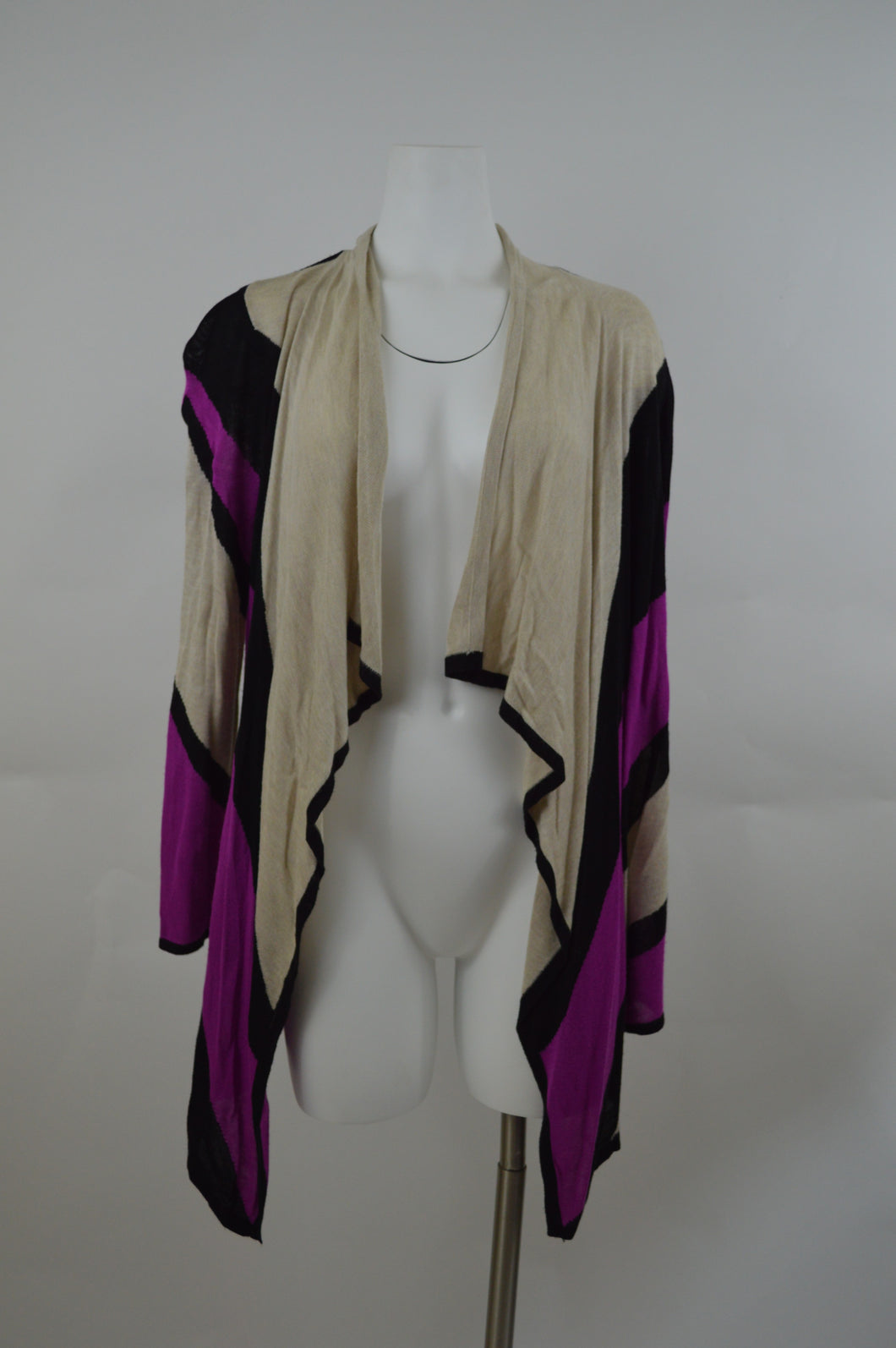 Open Front High Low Long Cardigan
