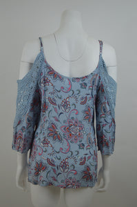 Paisley Cold Shoulder Top